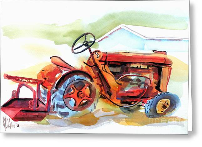 Rural Schools Mixed Media Greeting Cards - Ready for Work  Greeting Card by Kip DeVore