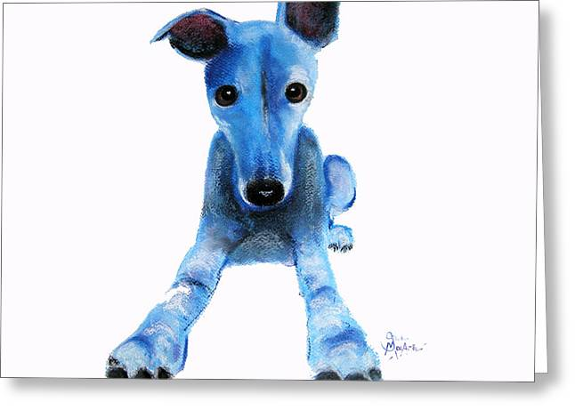 Greyhound Dog Pastels Greeting Cards - Ready Steady Greeting Card by Shirley MacArthur