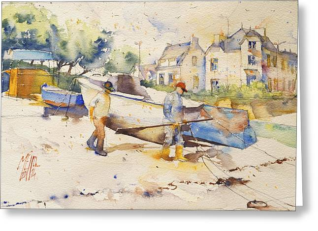 Lorient Greeting Cards - Ready to fish Greeting Card by Andre MEHU