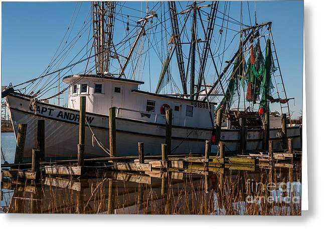 Shrimp Boat Captains Greeting Cards - Ready to Fish Greeting Card by Dale Powell