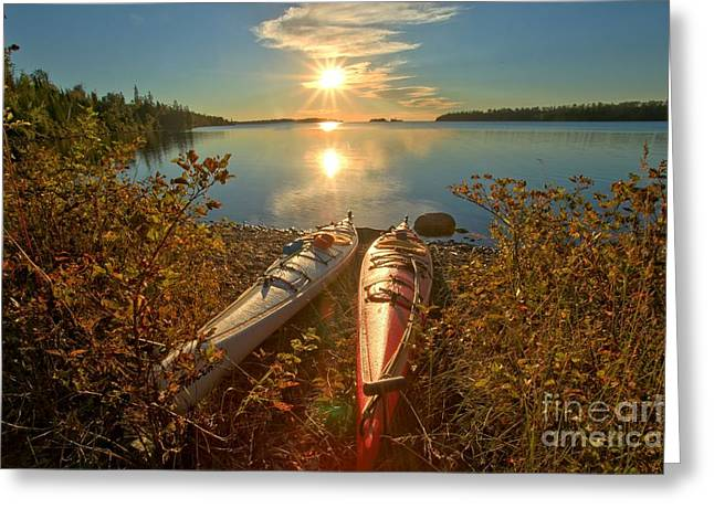 Superior Sunrise Greeting Cards - Ready To Go Greeting Card by Adam Jewell