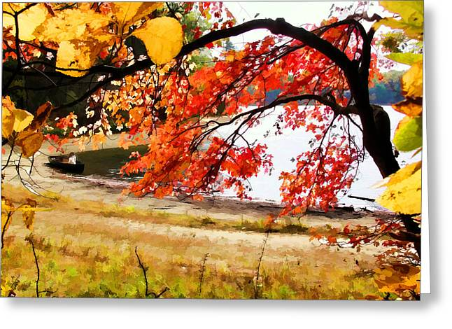 Walden Pond Greeting Cards - Ready to Launch at Walden Pond Greeting Card by Tom Christiano