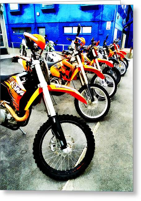Ktm Greeting Cards - Ready to Ride Greeting Card by Steve Taylor