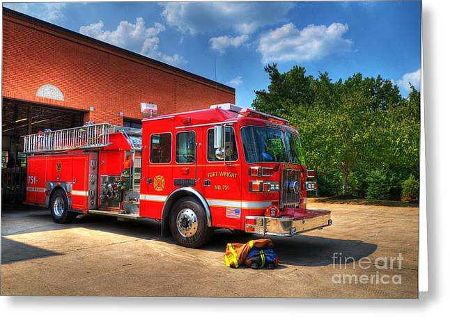 House Fires Greeting Cards - Ready To Roll Greeting Card by Mel Steinhauer