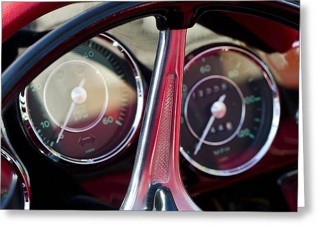 Speedometer Greeting Cards - Ready To Roll - Vintage Porsche Car by Sharon Cummings Greeting Card by Sharon Cummings