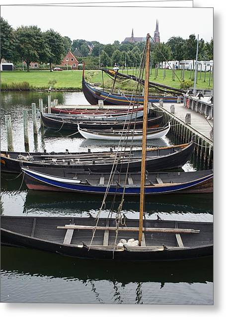 Recently Sold -  - Wooden Ship Greeting Cards - Ready to Row Greeting Card by Jenny Hudson