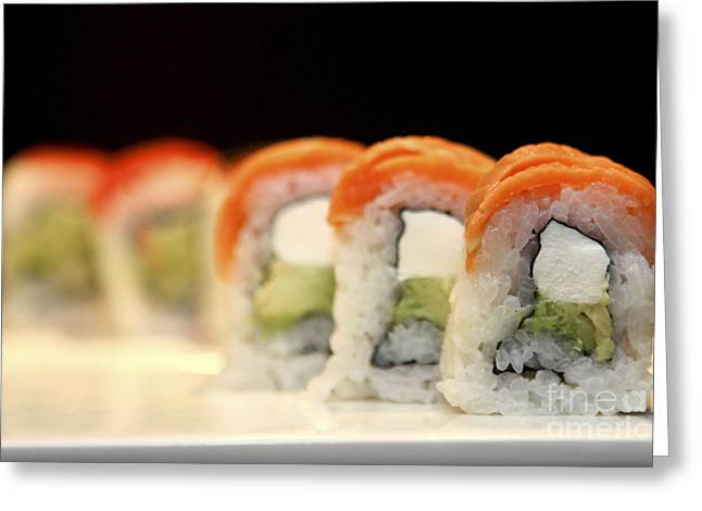 Ethnic Food Greeting Cards - Ready to serve Sushi  Greeting Card by Gal Eitan