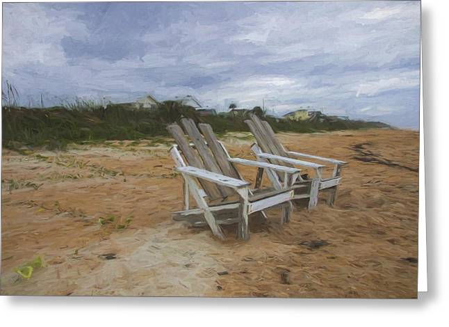 Adirondak Chair Greeting Cards - Ready To Sun Greeting Card by Alice Gipson