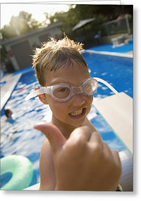 Thumbs Up Greeting Cards - Ready To Swim Greeting Card by Kelly Redinger