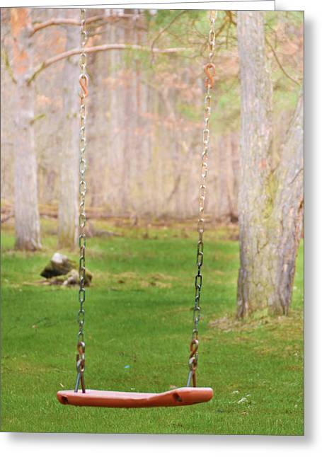 New To Vintage Greeting Cards - Ready to take a swing Greeting Card by Tracy Winter