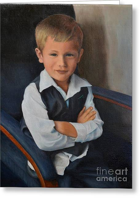 Faa Featured Paintings Greeting Cards - Youthful Confidence Greeting Card by Ralph Taeger