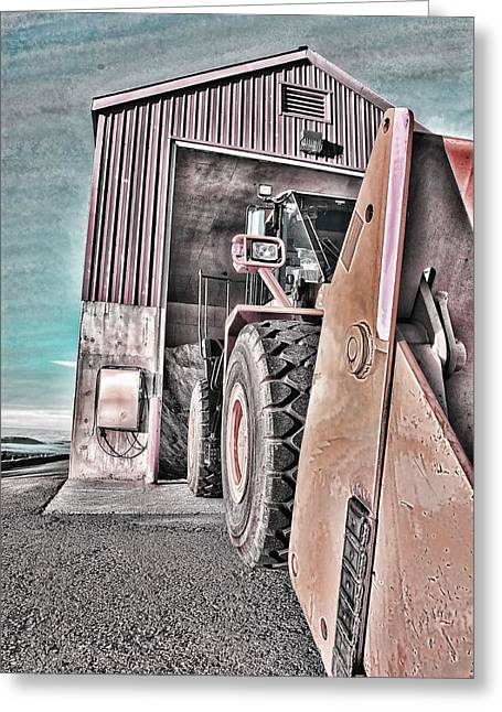 Front End Loader Greeting Cards - Ready To Work Greeting Card by Don Bendickson
