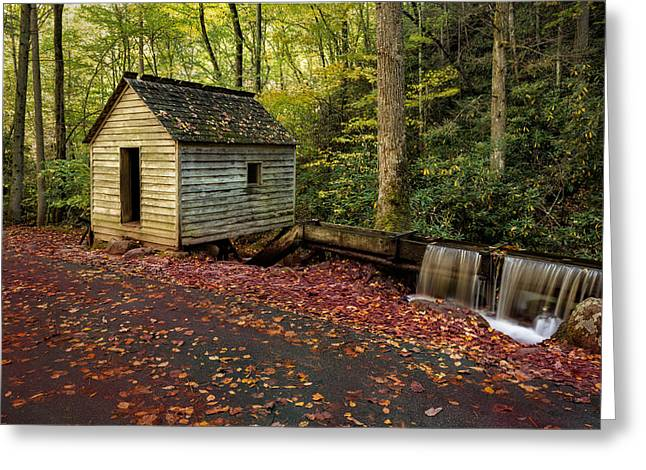 Grist Mill Greeting Cards - Reagans Mill Greeting Card by Don Dennis