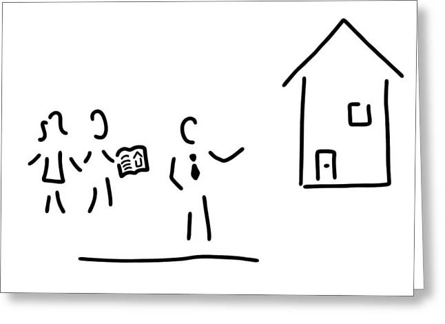 Real Estate Broker House Purchase Greeting Card by Lineamentum