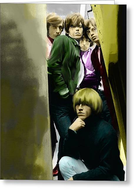 The Rolling Stones Art Work Greeting Cards - Real Exile The Brian Jones Rolling Stones  Greeting Card by Iconic Images Art Gallery David Pucciarelli