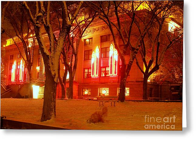 Prescott Digital Greeting Cards - Real Ghost of Christmas Past Greeting Card by K D Graves