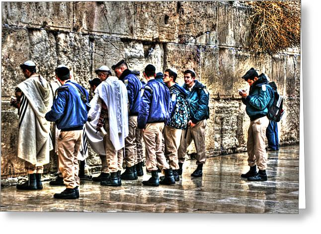Old Western Photos Mixed Media Greeting Cards - Real Homeland Security In Israel Greeting Card by Michael Braham