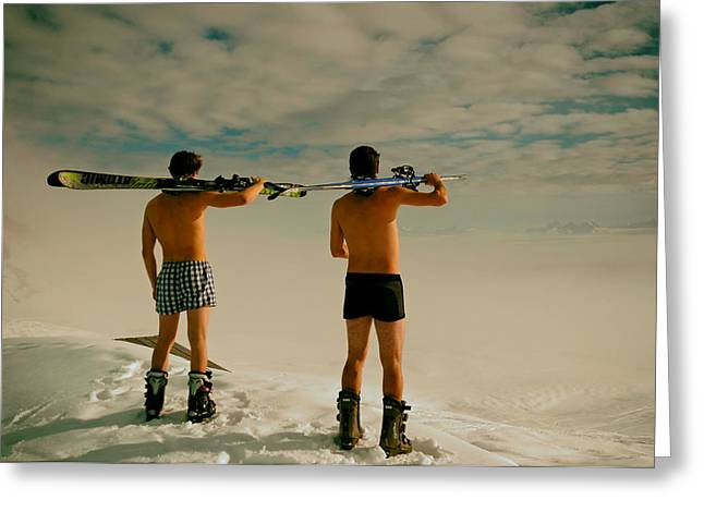Unique View Greeting Cards - Real Men Wear Boxers Greeting Card by Mountain Dreams
