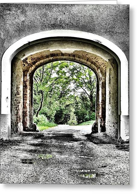 Garden Art Photographs Greeting Cards - Realization Greeting Card by Marianna Mills