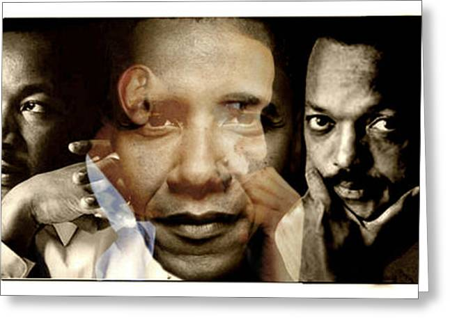 Obama Poster Digital Art Greeting Cards - Realized Greeting Card by Lynda Payton