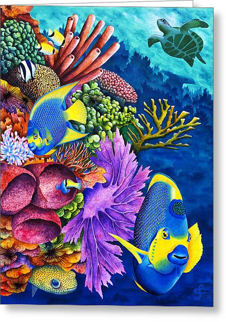Exotic Fish Greeting Cards - Realm Of The Queen Greeting Card by Carolyn Steele