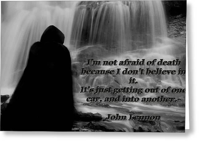 John Lennon Quote Greeting Cards - Reaper 1 Greeting Card by Tammy Collins