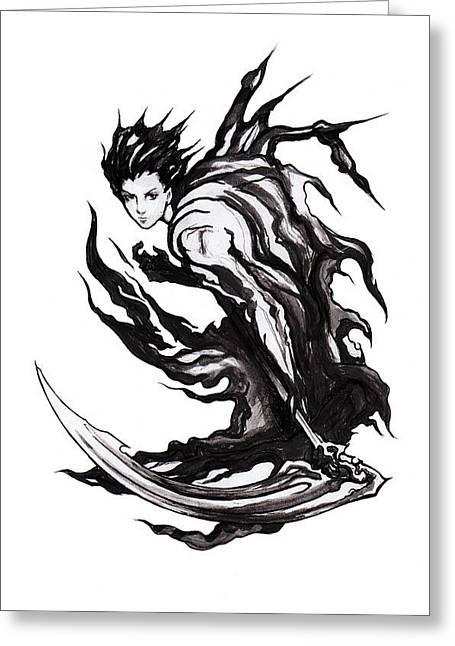 Reaper Greeting Card by Miguel Karlo Dominado