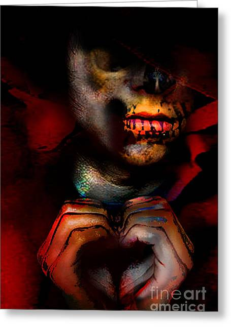 Reaping Lost Love Greeting Card by Brittany Perez