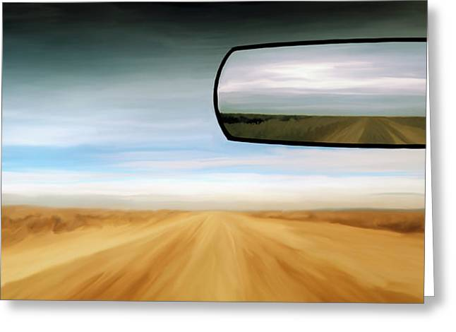 Rear View Mirror Greeting Card by Leland D Howard