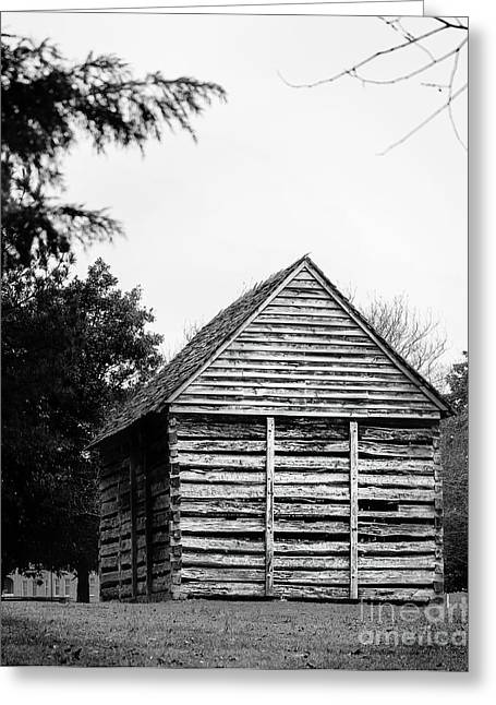 Charlotte Museums Greeting Cards - Rear View of Log Kitchen Greeting Card by Robert Yaeger