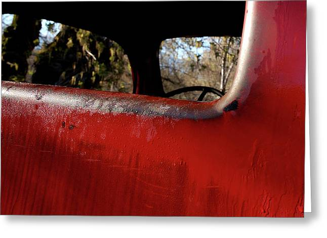 Rear Window Greeting Cards - Rear View - Vintage Dodge Truck Greeting Card by Steven Milner