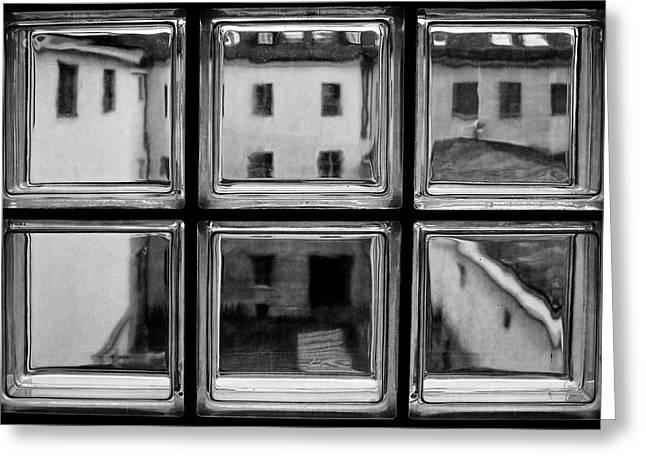 Rear Window Greeting Card by Roswitha Schleicher-schwarz