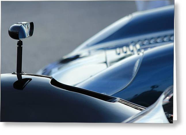 Goodwood Greeting Cards - Rearview Reflections Greeting Card by Robert Phelan
