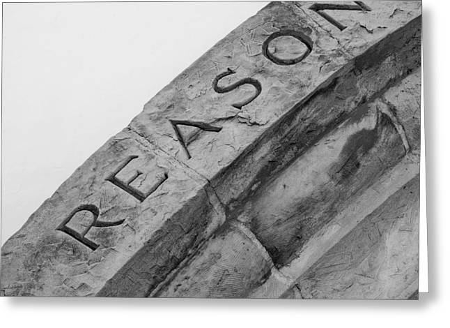 Conclusion Greeting Cards - Reason in Stone Greeting Card by Art Block Collections