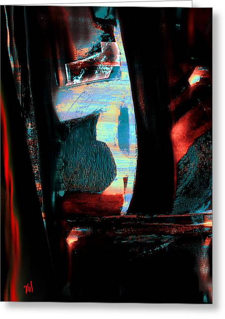 Abstract Digital Light Trails Greeting Cards - Reasons- Ewf Series 5 Greeting Card by Yul Olaivar