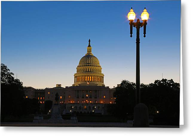 U.s. Capitol Greeting Cards - Reawaken Greeting Card by Mitch Cat