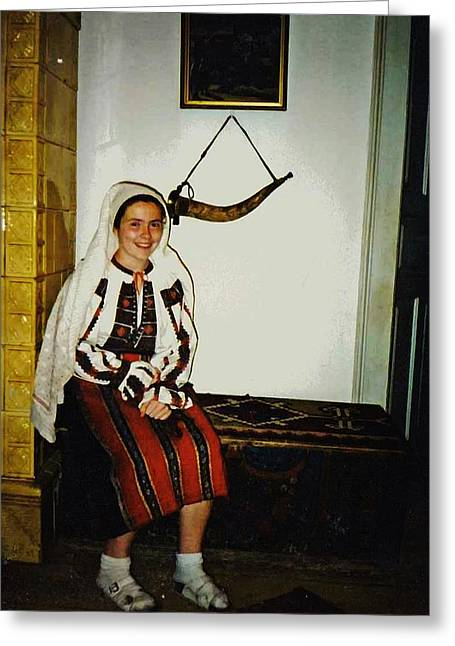 Rebekah In Romania Greeting Card by Sarah Loft