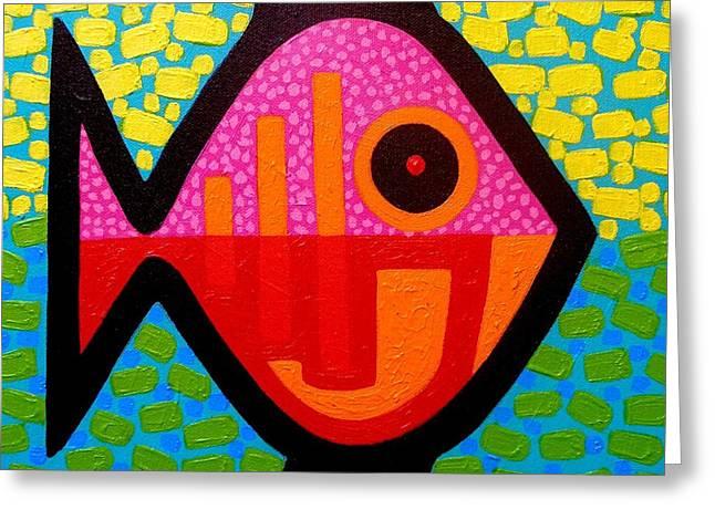 Decorative Fish Greeting Cards - Rebel Fish  II Greeting Card by John  Nolan