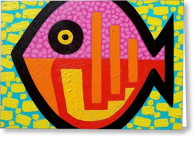 Print Card Greeting Cards - Rebel Fish Greeting Card by John  Nolan