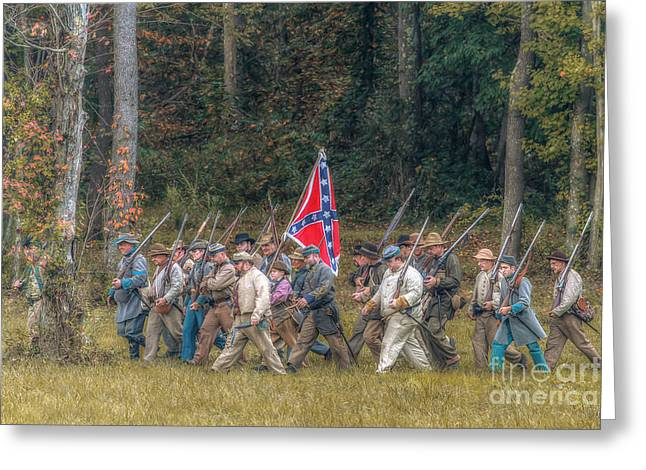 Army Of Northern Virgina Greeting Cards - Rebel March Greeting Card by Randy Steele