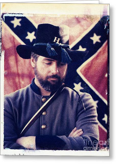 Confederate Flag Greeting Cards - Rebel Soldier Greeting Card by Matthew Lit