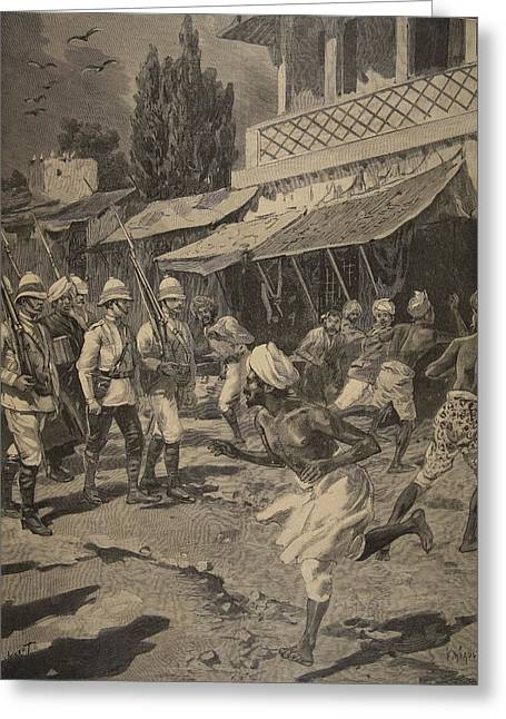 British Empire Greeting Cards - Rebellion In Bombay, Illustration Greeting Card by French School