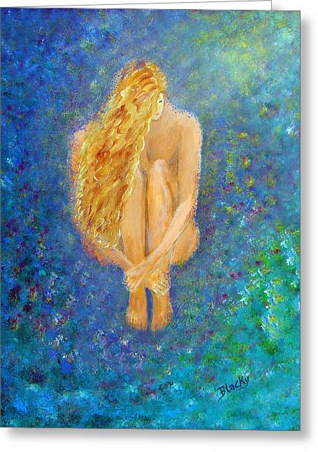 Human Forms Greeting Cards - Rebirth Greeting Card by Donna Blackhall