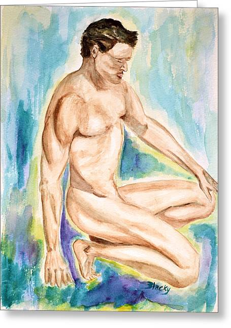 Male Forms Greeting Cards - Rebirth of Apollo Greeting Card by Donna Blackhall