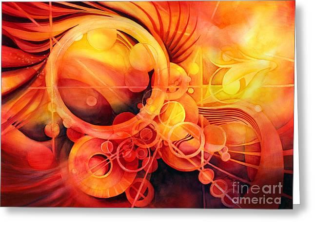 Fire Art Greeting Cards - Rebirth - Phoenix Greeting Card by Hailey E Herrera
