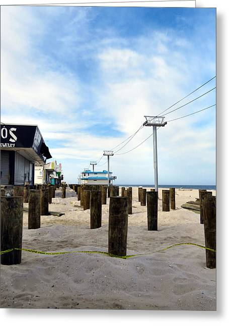Hurricane Sandy Photographs Greeting Cards - Rebuilding Greeting Card by Michelle Milano