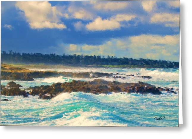 Big Sur Beach Greeting Cards - Receding Storm Clouds Greeting Card by Jim Pavelle