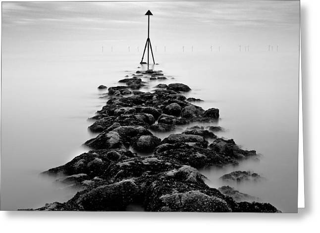 Receding Tide Greeting Card by Dave Bowman