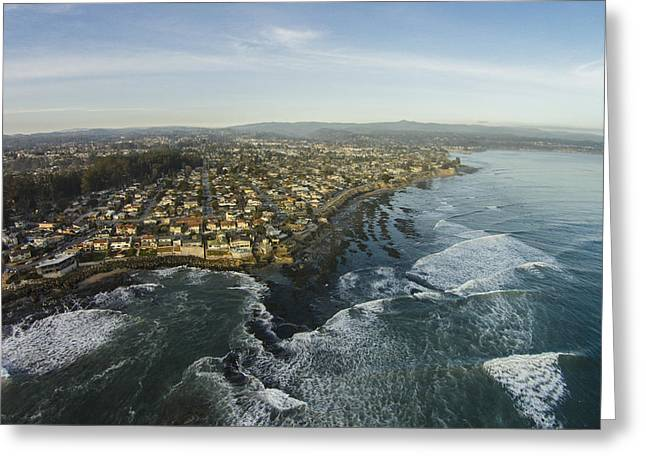 Santa Cruz Surfing Greeting Cards - Receding Waters Greeting Card by David Levy
