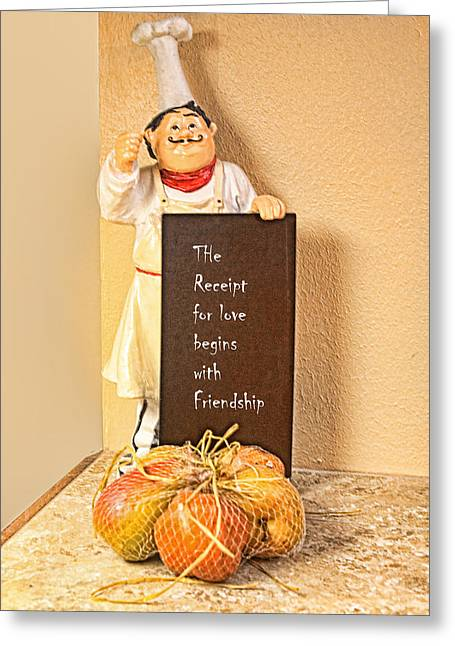 Receipt Greeting Cards - Receipt for Love Greeting Card by Linda Phelps